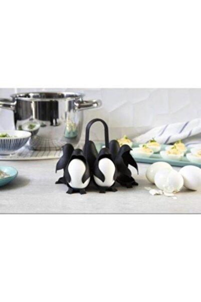 Supply Home 6'lı Penguen Yumurta Haşlama Ve Sunum Aparat, Mutfak Saklama Kabı