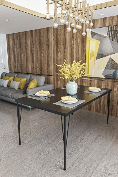 Evdemo Dekor Mutfak Yemek Masası Siyah