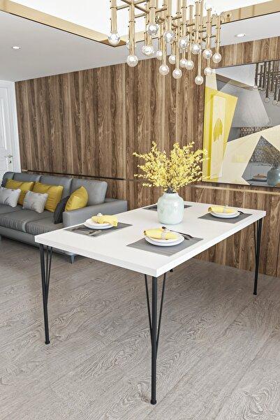 Evdemo Dekor Mutfak Yemek Masası Beyaz
