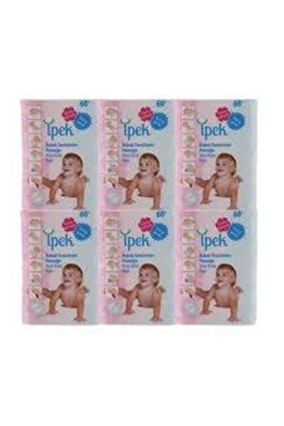 İpek Bebek Temizleme Pamuğu 60'lı x 6 Paket