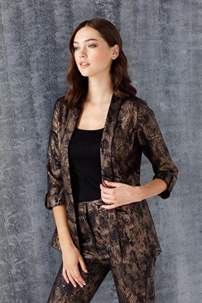 ON Kadın Bakır Desenli Ceket