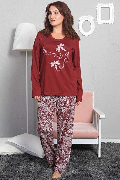 Y-London Kadın Bordo Uzun Kol Pijama Takımı 802210