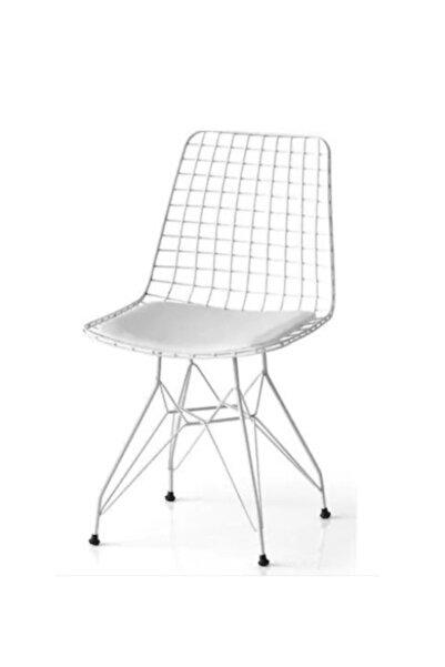 Masterline Beyaz Tel Sandalye