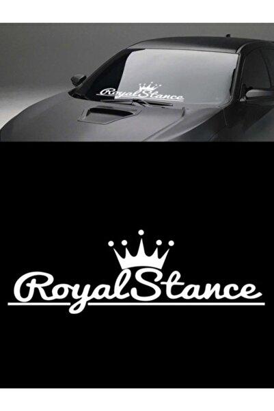 Melek Pazarı 55 X 18 Cm Beyaz Renk, Royal Stance Oto Sticker, Araba Sticker