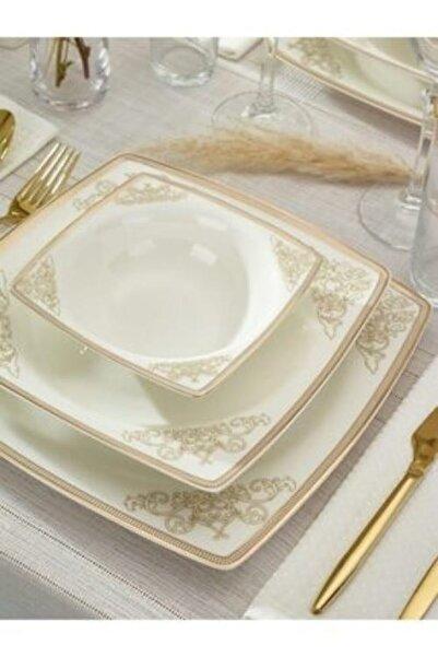 Emsan Yemek Takımı 61 Parça Fıne Bone Masal Gold
