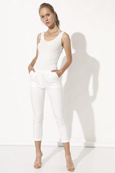 Arma Life Kadın Ekru Kumaş Pantolon