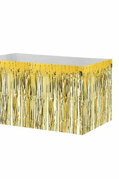 canbayhobi Metalik Folyo Gold Püskül Masa Eteği