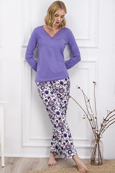 Pierre Cardin Kadın Mor Pijama Takımı