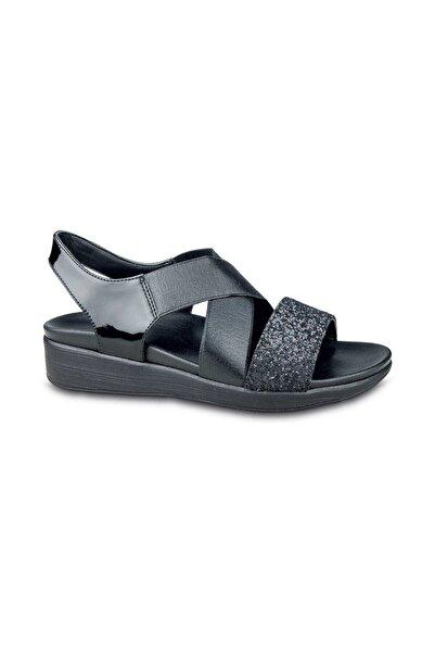 Ceyo Kadın Siyah Bantlı Sandalet 9962-6 (35-41)