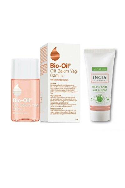 Bio-Oil Yeni Formül Çatlak Karşıtı Cilt Bakım Yağı 60 ml+e Vitamini Içeren Göğüs Ucu Bakım Kremi 30 ml