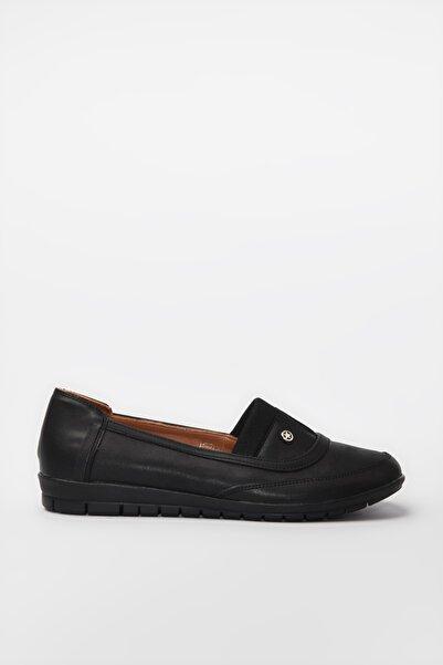 Yaya  by Hotiç Siyah Kadın Loafer Ayakkabı 01AYY188170A100