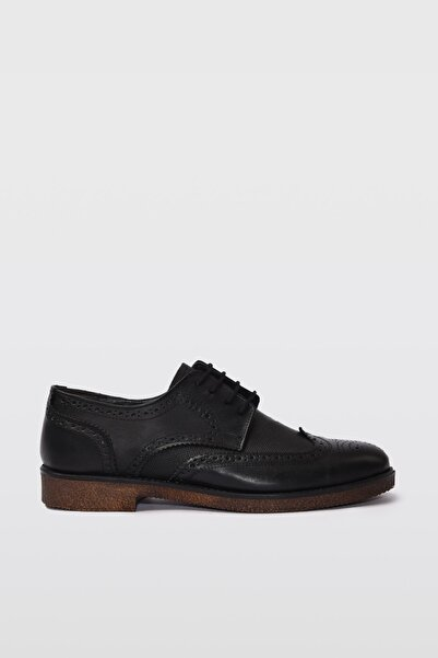 Yaya  by Hotiç Hakiki Deri Siyah Erkek Casual Ayakkabı 02AYY189730A100