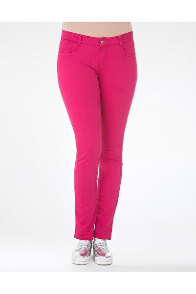 GEBE Kadın Fuşya Büyük Beden Pantolon
