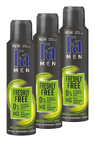 Fa Freshly Free Nane & Bergamot Deosprey X 3 Adet