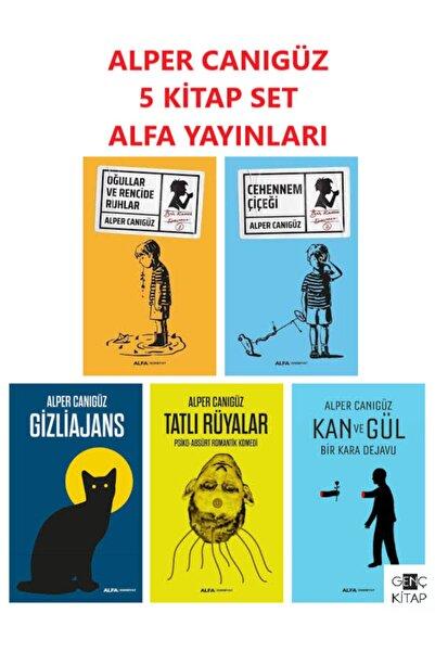 Alfa Yayınları Alper Canıgüz 5 Kitap Set Gizliajans Tatlı Rüyalar Kan Ve Gül Cehennem Çiçeği Oğullar Ve Rencide