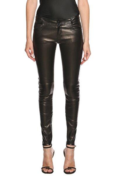 Tom Ford Kadın Siyah Deri Pantolon