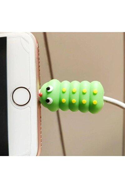 Madora Sevimli Tırtıl Usb Kablo Koruyucu Iphone Android Samsung Huawei Xiaomi Her Kabloya Uygun