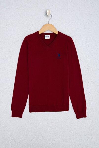 U.S. Polo Assn. Kırmızı Erkek Çocuk Kazak