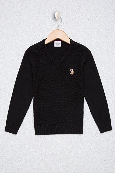 U.S. Polo Assn. Siyah Erkek Çocuk Triko Kazak