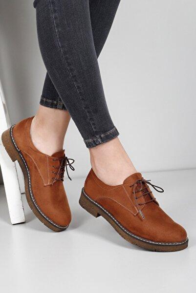 G.Ö.N Taba Süet Kadın Ayakkabı 33802