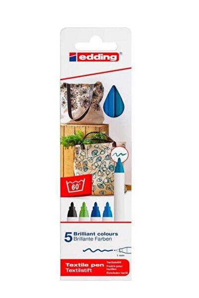 Edding E-4600 Kumaş Boyama Tekstil Kalemi 5'li Kutu Ücretsiz Karg