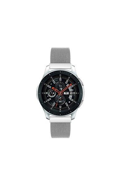 Pars Online Huawei Watch Gt Gt2 46mm Classic - Samsung Gear S3 Frontier Hasır Metal Kordon Gri