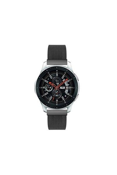 Pars Online Huawei Watch Gt Gt2 46mm Classic - Samsung Gear S3 Frontier Hasır Metal Kordon Siyah