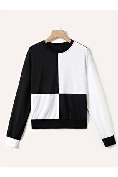 Kadın Siyah/ekru Sweatshirt,000285