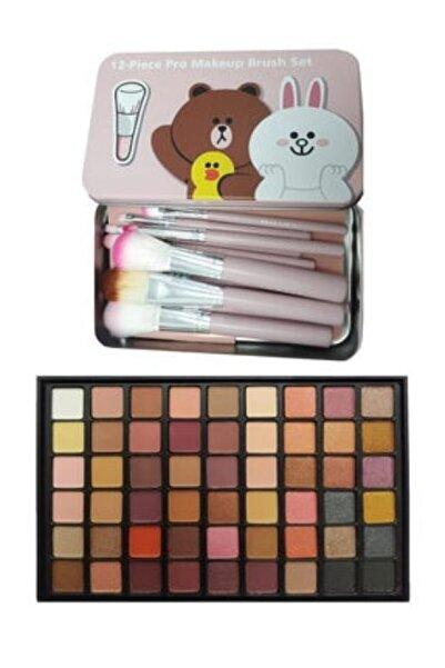 Makeuptime 54 Renkli Göz Farı Paleti Ve Fırça Seti