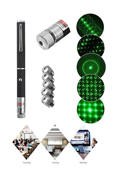 ALKILIÇ Yeşil Lazer Pointer Pilli 50 Mw 15 Km Etkili (5 Başlıklı)