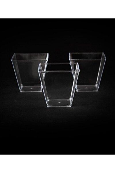 Kristal Plastik Akrilik Prizma Kübik Kase 200cc 24 Adet - Kapaksız