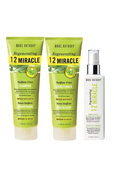 MARC ANTHONY Sülfatsız Set Şampuan 250 Ml + Saç Kremi 250 Ml + Saç Serumu 135 Ml 6580356563212