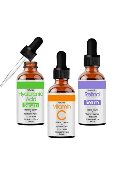 Natural Hyaluronic Acid + Retinol + Vitamin C Serum Set
