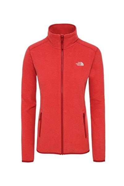 THE NORTH FACE 100 Galcier Fullzip Kadın Sweatshirt Kırmızı