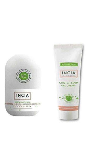Incia Doğal Karın Çatlak Jel Kremi 75ml + Doğal Roll-on Deodorant Beyazlatıcı Etkili50 Ml