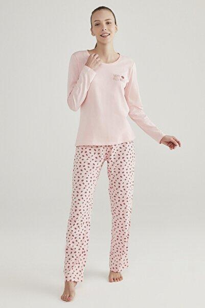 Penti Pembe Base Lips Pijama Takımı