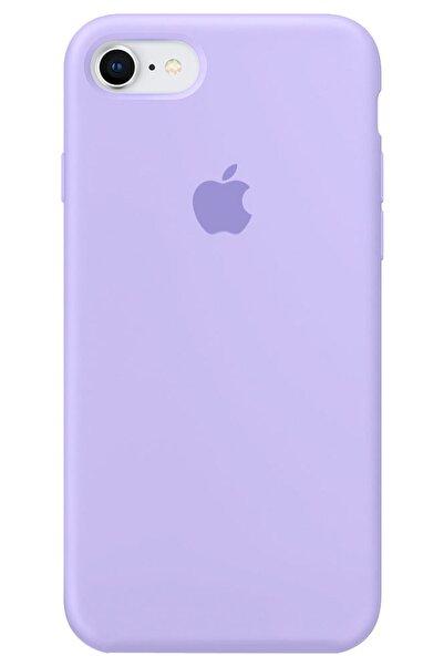 """Cekuonline Iphone 6s Plus 5.5"""" Logolu Lansman Kılıf Altı Kapalı Iç Kısmı Kadife - Lila Mor"""