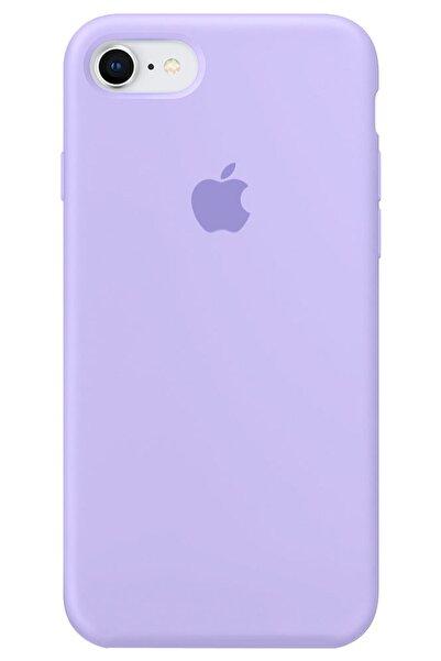 Cekuonline Iphone Se 2020 Logolu Lansman Kılıf Altı Kapalı Iç Kısmı Kadife - Lila Mor