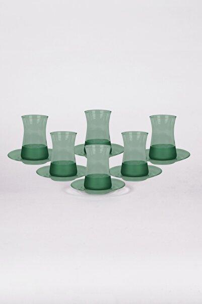 Rakle Yeşil Matte 12 Parça Çay Seti 132 cc
