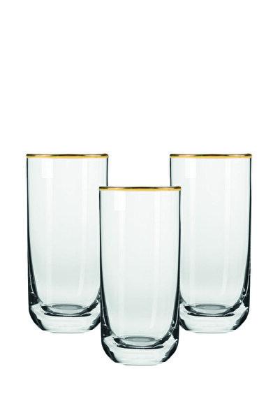 Rakle Gold Glamour Meşrubat Bardağı Seti 360 cc 3'lü
