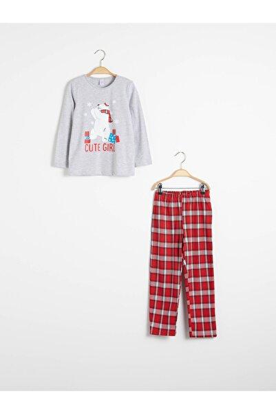 LC Waikiki Kız Çocuk Kırmızı Pijama Takım