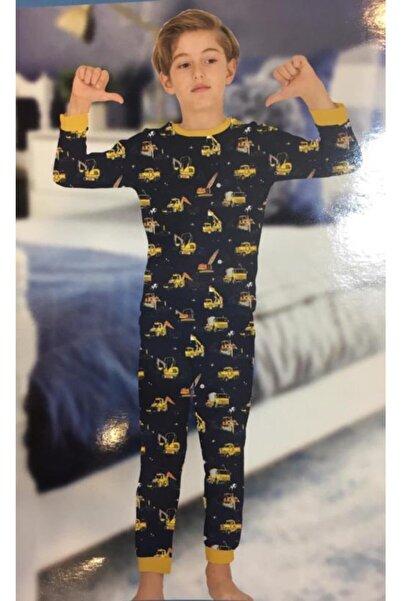 elmas kids Erkek Çocuk Kamyonet Desenli Pamuklu Pijama Takımı
