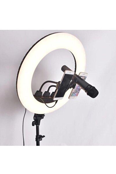 LUX LED Tiktok Youtuber Kuaför Makyaj Çekim Işığı En Siga 18 Inç 3 Led Telefon Tutucu