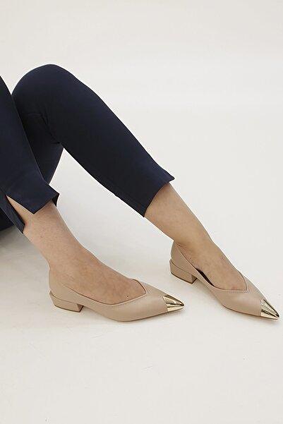 Marjin Kadın Bej Adopa Topuklu Ayakkabı