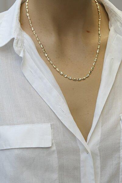 Marjin Kadın Altın Arpa Model Zincir Kolye