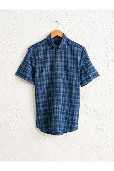 LC Waikiki Erkek Lacivert Kısa Kollu Gömlek
