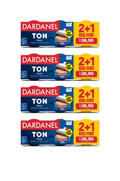 Dardanel 150X3 Bitkisel Yağda Ton Balığı (2+1) 4'Lü Paket