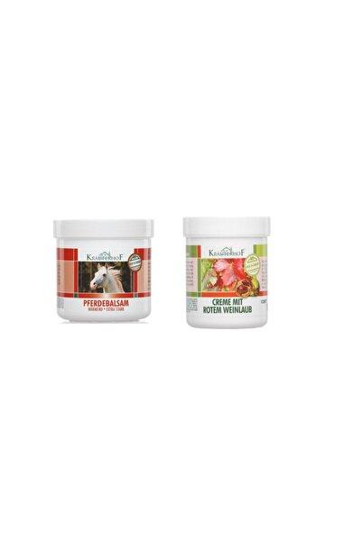 Krauterhof Extra Isıtıcı Masaj Jeli 250 ml + Kırmızı Asma Yaprağı Kremi 100 ml