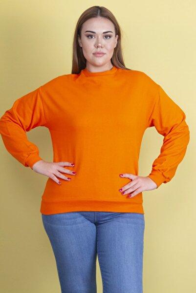 Şans Kadın Oranj İçi Şardonlu Sweatshirt 65N19759