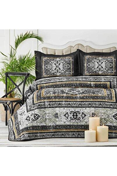 Karaca Home Rubi Siyah Çift Kişilik Yatak Örtüsü Set